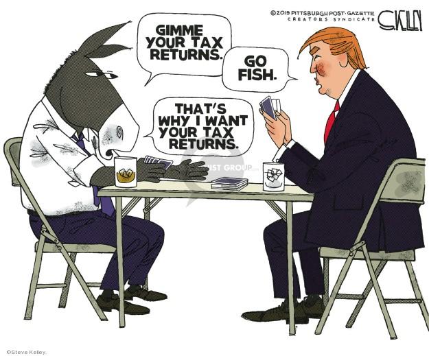 Cartoonist Steve Kelley  Steve Kelley's Editorial Cartoons 2019-04-12 liberal