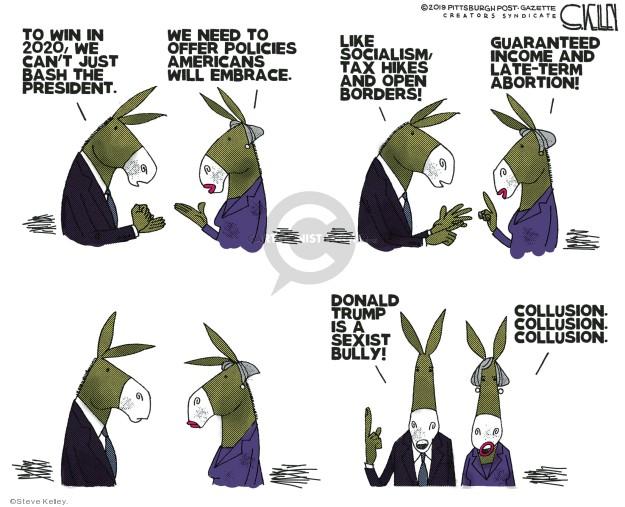 Steve Kelley  Steve Kelley's Editorial Cartoons 2019-04-15 border
