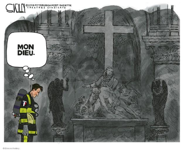 Cartoonist Steve Kelley  Steve Kelley's Editorial Cartoons 2019-04-17 fire