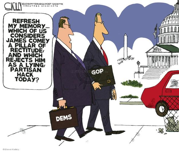 Cartoonist Steve Kelley  Steve Kelley's Editorial Cartoons 2019-05-13 liberal