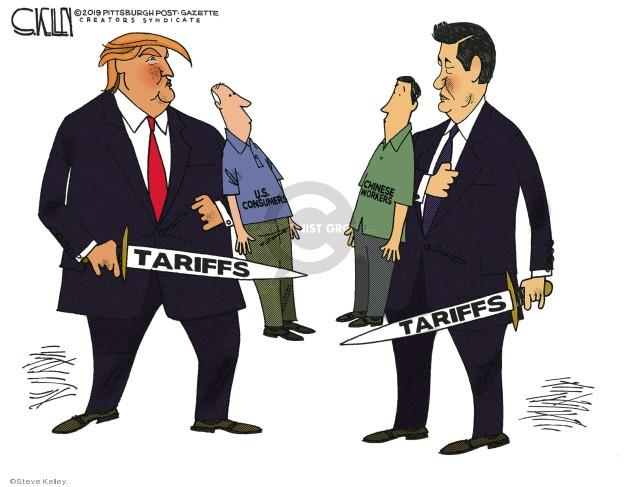 Steve Kelley  Steve Kelley's Editorial Cartoons 2019-05-15 trade