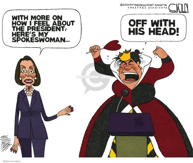 Cartoonist Steve Kelley  Steve Kelley's Editorial Cartoons 2019-06-09 congressional leadership