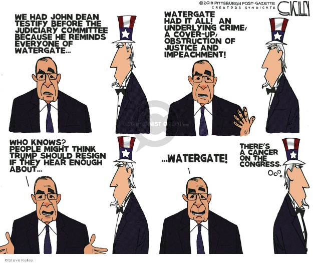 Cartoonist Steve Kelley  Steve Kelley's Editorial Cartoons 2019-06-12 Richard Nixon