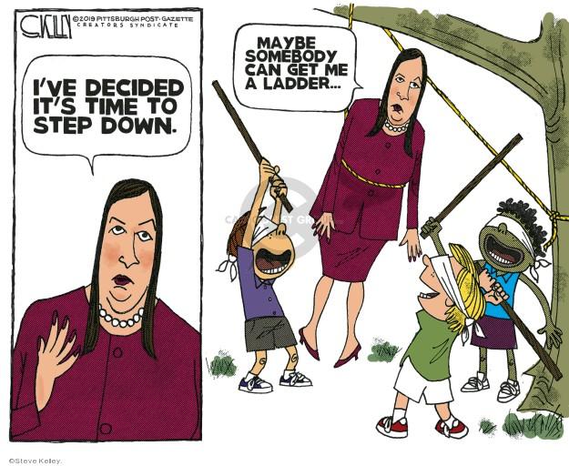 Cartoonist Steve Kelley  Steve Kelley's Editorial Cartoons 2019-06-16 left me