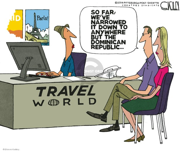 Cartoonist Steve Kelley  Steve Kelley's Editorial Cartoons 2019-06-21 travel safety