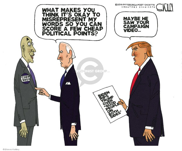 Cartoonist Steve Kelley  Steve Kelley's Editorial Cartoons 2019-06-24 Joe Biden