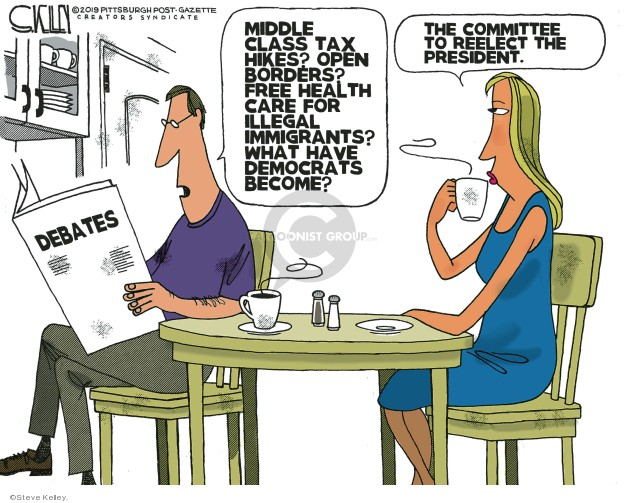 Cartoonist Steve Kelley  Steve Kelley's Editorial Cartoons 2019-07-01 tax