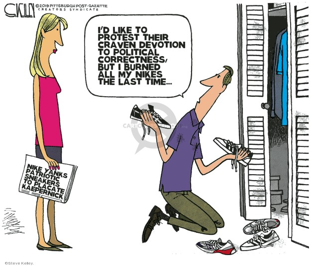 Cartoonist Steve Kelley  Steve Kelley's Editorial Cartoons 2019-07-05 rights
