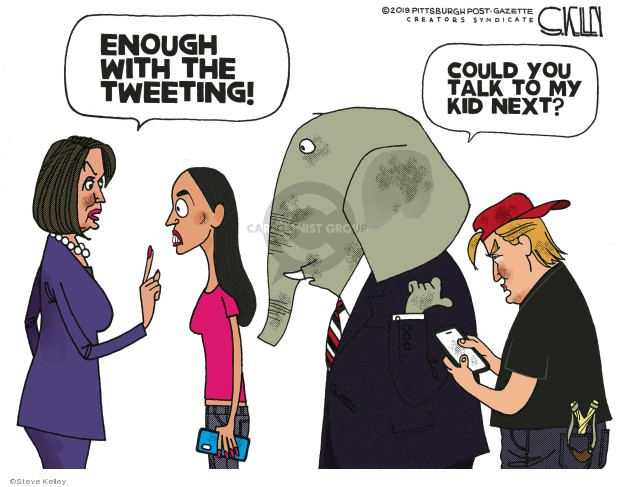 Cartoonist Steve Kelley  Steve Kelley's Editorial Cartoons 2019-07-12 Donald Trump media