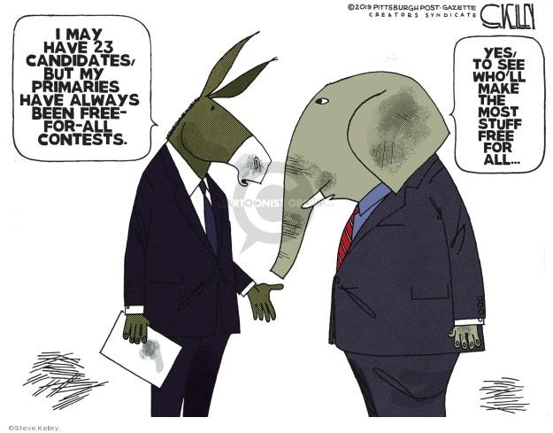 Steve Kelley  Steve Kelley's Editorial Cartoons 2019-07-15 candidate