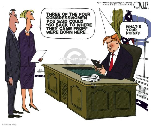 Cartoonist Steve Kelley  Steve Kelley's Editorial Cartoons 2019-07-17 American