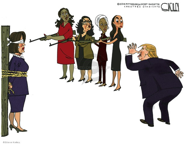 Image result for pelosi and the squad cartoon