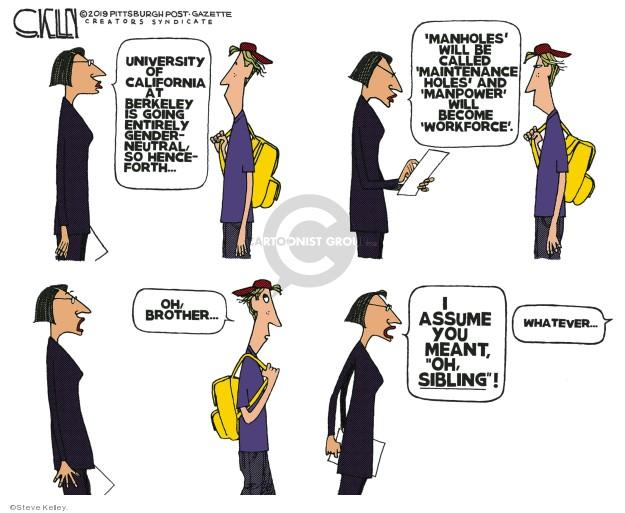Cartoonist Steve Kelley  Steve Kelley's Editorial Cartoons 2019-07-24 education