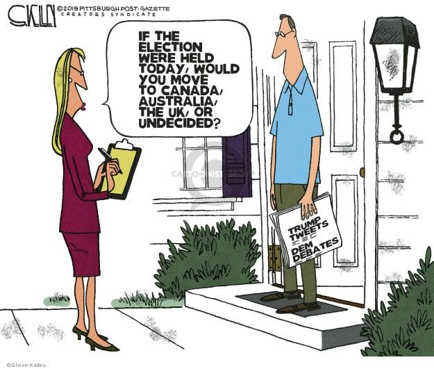 Steve Kelley  Steve Kelley's Editorial Cartoons 2019-08-01 voter