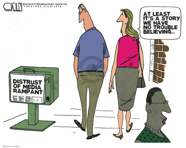 Steve Kelley  Steve Kelley's Editorial Cartoons 2019-09-04 journalism