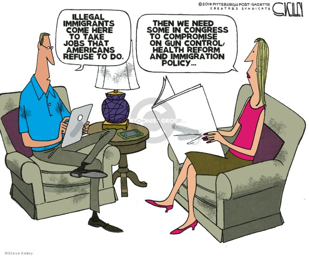 Cartoonist Steve Kelley  Steve Kelley's Editorial Cartoons 2019-09-16 gun