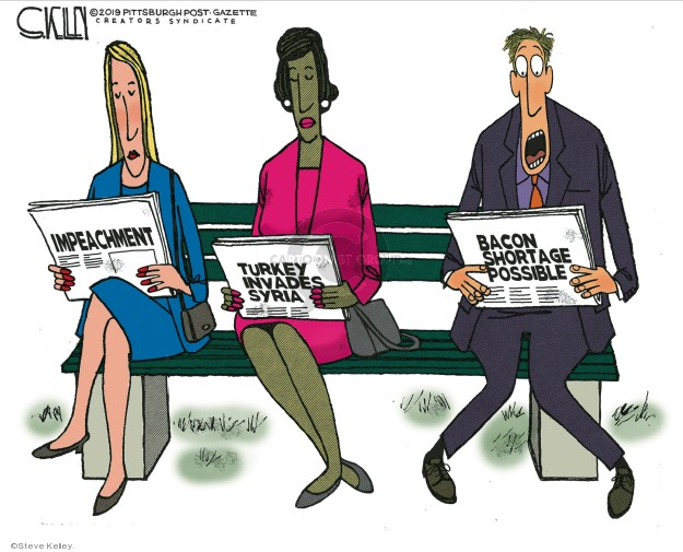 Cartoonist Steve Kelley  Steve Kelley's Editorial Cartoons 2019-10-14 policy