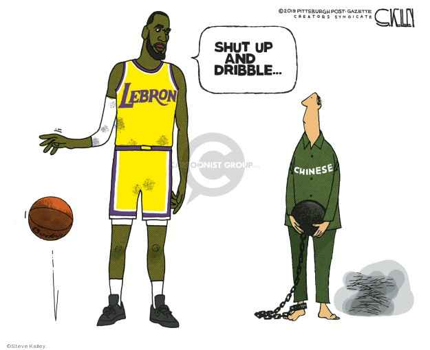 Steve Kelley  Steve Kelley's Editorial Cartoons 2019-10-17 basketball