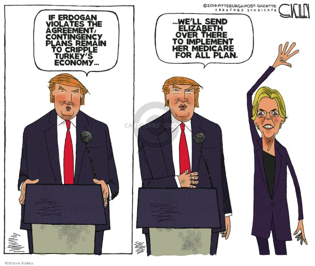 Cartoonist Steve Kelley  Steve Kelley's Editorial Cartoons 2019-10-21 assault