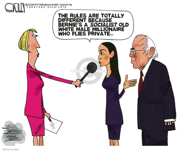 Cartoonist Steve Kelley  Steve Kelley's Editorial Cartoons 2019-10-23 2020 election