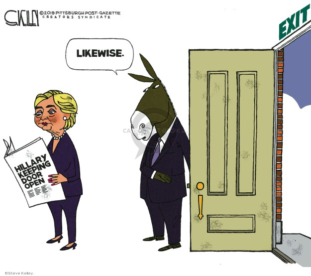 Steve Kelley  Steve Kelley's Editorial Cartoons 2019-10-24 Hillary Clinton