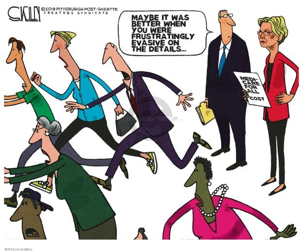 Cartoonist Steve Kelley  Steve Kelley's Editorial Cartoons 2019-11-05 2020 election