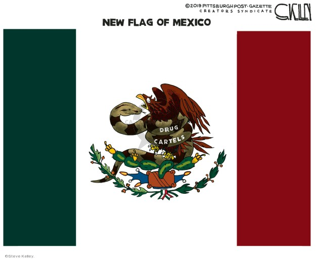 New Flag of Mexico. Drug cartels.