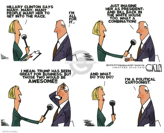 Cartoonist Steve Kelley  Steve Kelley's Editorial Cartoons 2019-11-15 president
