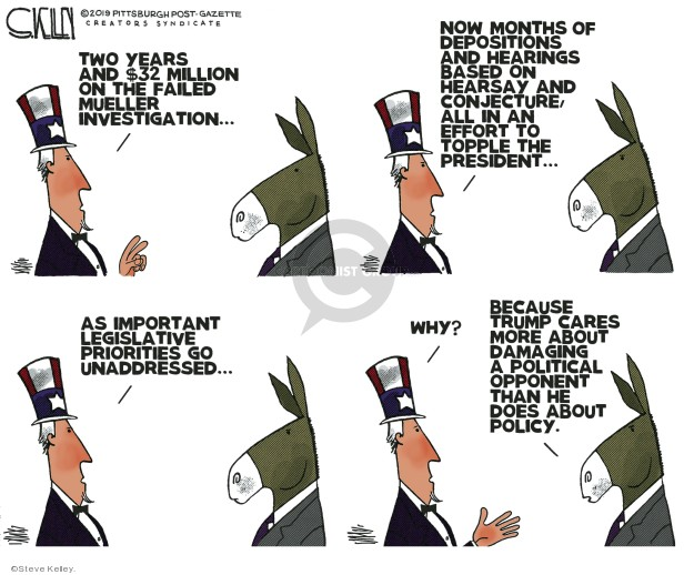 Steve Kelley  Steve Kelley's Editorial Cartoons 2019-11-21 investigation