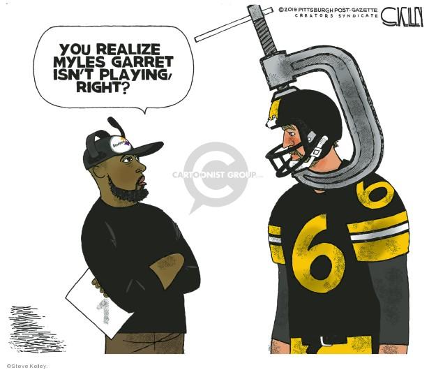 Cartoonist Steve Kelley  Steve Kelley's Editorial Cartoons 2019-12-01 football
