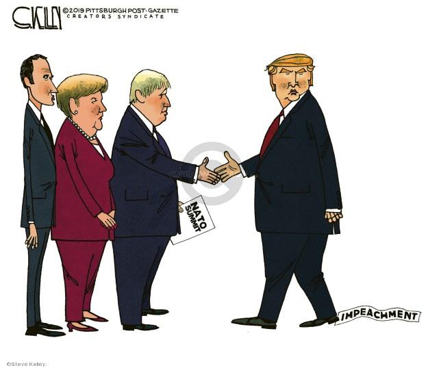 Cartoonist Steve Kelley  Steve Kelley's Editorial Cartoons 2019-12-03 president