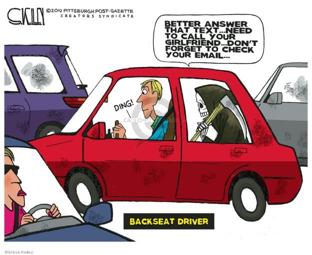Steve Kelley  Steve Kelley's Editorial Cartoons 2019-12-15 death