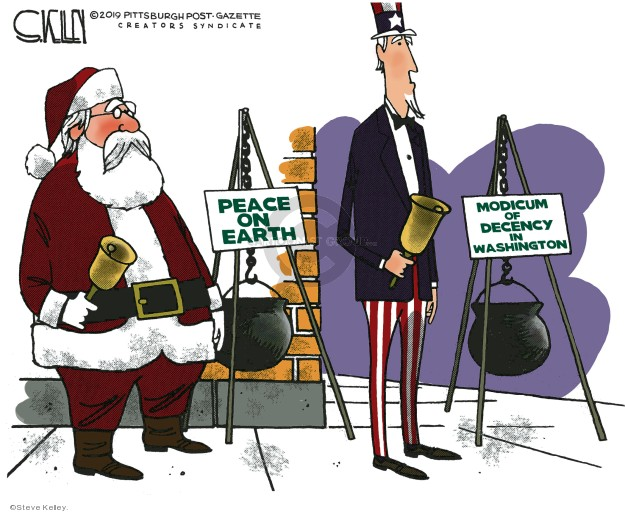 Steve Kelley  Steve Kelley's Editorial Cartoons 2019-12-19 editorial