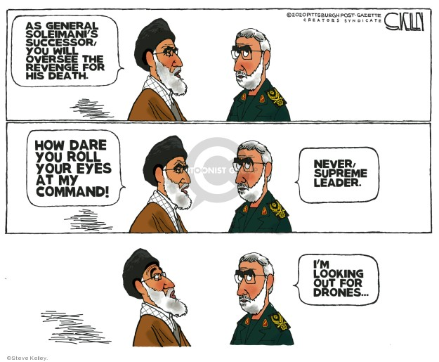 Cartoonist Steve Kelley  Steve Kelley's Editorial Cartoons 2020-01-08 Iraq