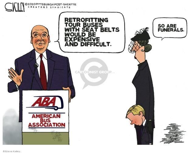 Steve Kelley  Steve Kelley's Editorial Cartoons 2020-01-14 death