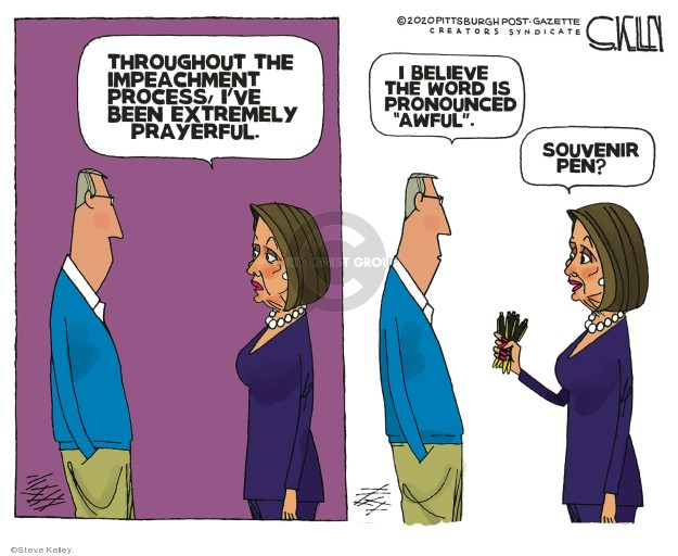 Steve Kelley  Steve Kelley's Editorial Cartoons 2020-01-19 impeachment
