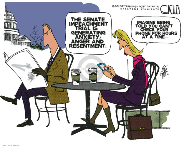 Steve Kelley  Steve Kelley's Editorial Cartoons 2020-01-21 impeachment