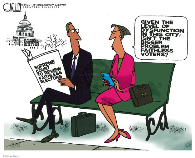 Steve Kelley  Steve Kelley's Editorial Cartoons 2020-02-05 Supreme Court