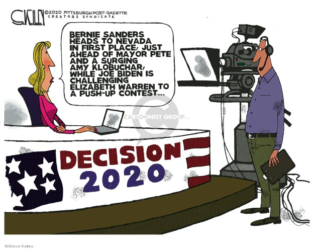 Steve Kelley  Steve Kelley's Editorial Cartoons 2020-02-13 presidential election