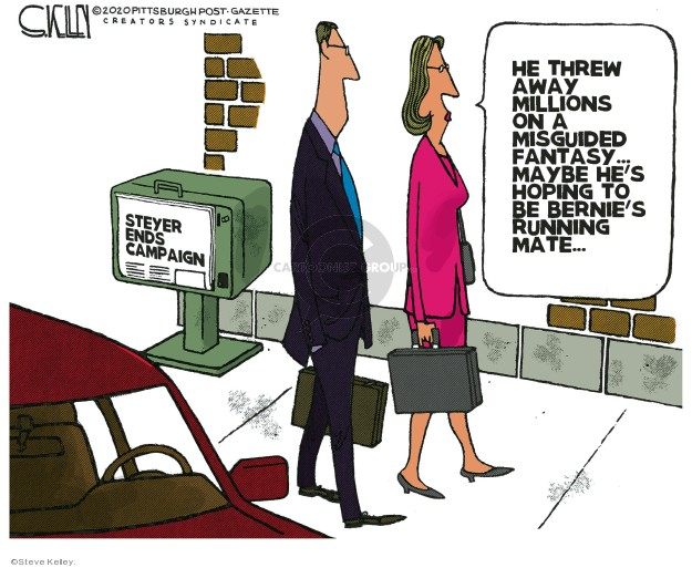 Steve Kelley  Steve Kelley's Editorial Cartoons 2020-03-04 presidential election