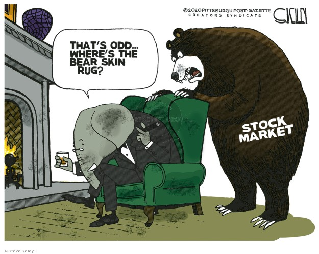 Steve Kelley  Steve Kelley's Editorial Cartoons 2020-03-10 stock market