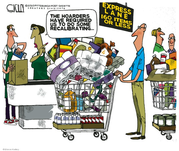 Steve Kelley  Steve Kelley's Editorial Cartoons 2020-03-17 editorial