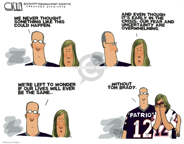 Steve Kelley  Steve Kelley's Editorial Cartoons 2020-03-19 football player