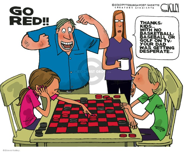 Steve Kelley  Steve Kelley's Editorial Cartoons 2020-03-22 basketball