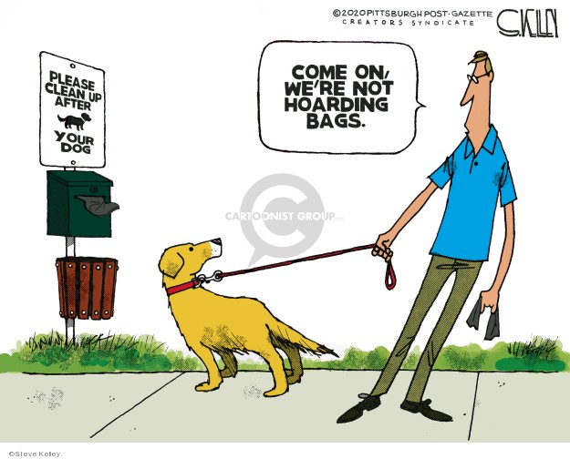 Steve Kelley  Steve Kelley's Editorial Cartoons 2020-03-24 editorial