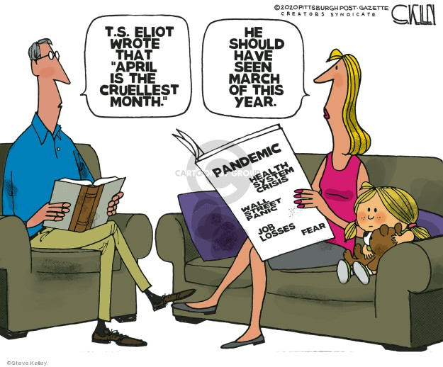 Cartoonist Steve Kelley  Steve Kelley's Editorial Cartoons 2020-04-01 year