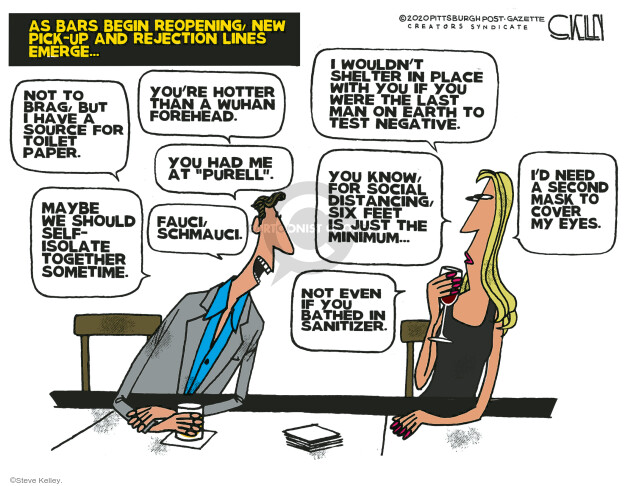 Steve Kelley  Steve Kelley's Editorial Cartoons 2020-04-26 disease