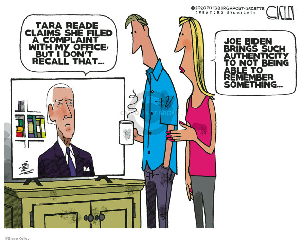 Steve Kelley  Steve Kelley's Editorial Cartoons 2020-05-03 assault