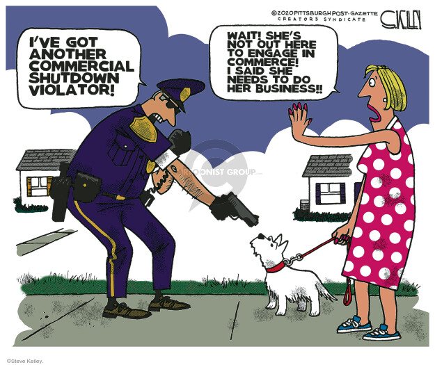 Steve Kelley  Steve Kelley's Editorial Cartoons 2020-05-08 police
