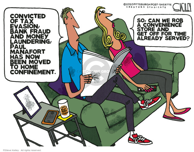 Steve Kelley  Steve Kelley's Editorial Cartoons 2020-05-17 investigation